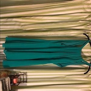 Express green size 12 mid thigh length dress